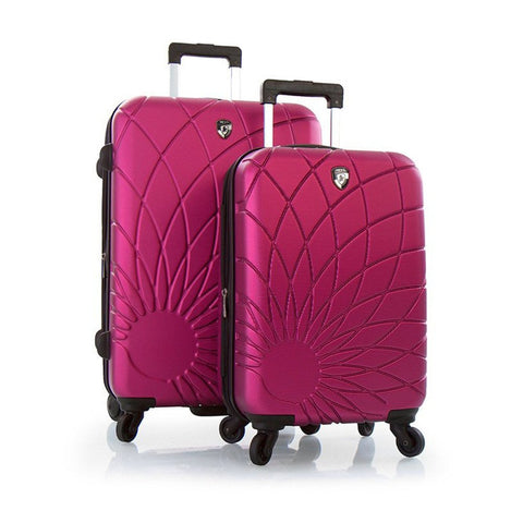 "Heys Solar Spinners 2 Pc Set Lightweight Hard Side Luggage Set - 21"", 26"" (Fuchsia)"