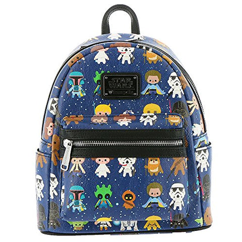 Loungefly Star Wars Character Mini Backpack Navy-Multi