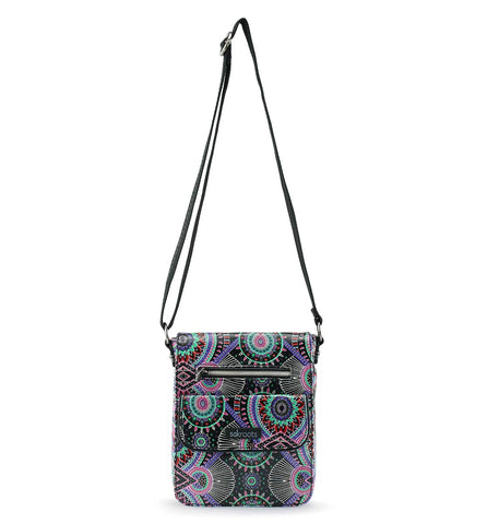 Sakroots Unisex-adults Artist Circle Small Flap Messenger, Onyx Wanderlust