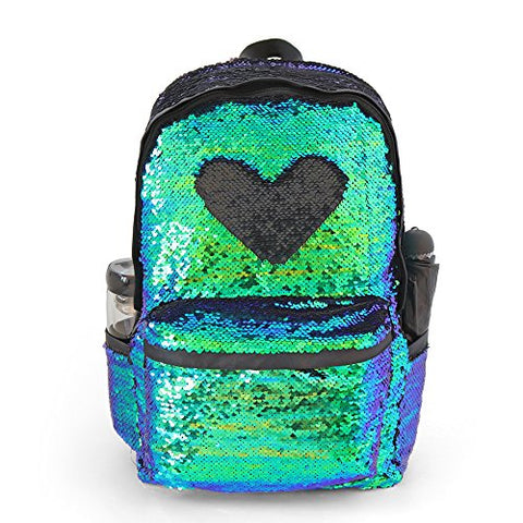 Glitter Magic Reversible Sequin School Backpack,Sparkly Lightweight Back Pack Shoulder Casual