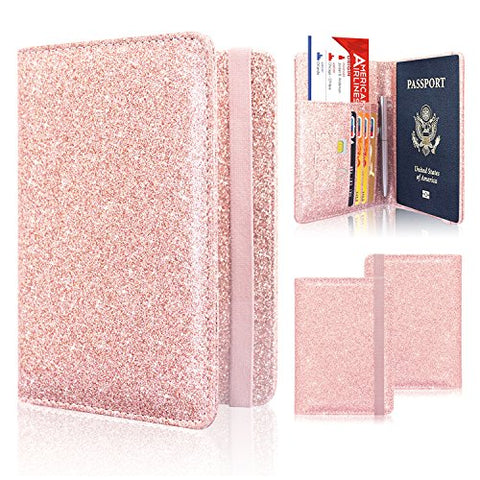 Passport Holder Cover, ACdream Travel Leather RFID Blocking Case Wallet for Passport with Elastic