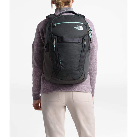 The North Face Women's Surge Backpack, Asphalt Grey Light Heather/Windmill Blue