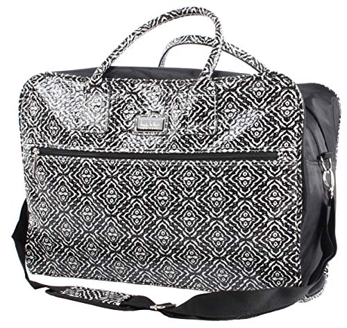 "Nicole Miller Teagan 20"" Carry On Satchel (Black)"