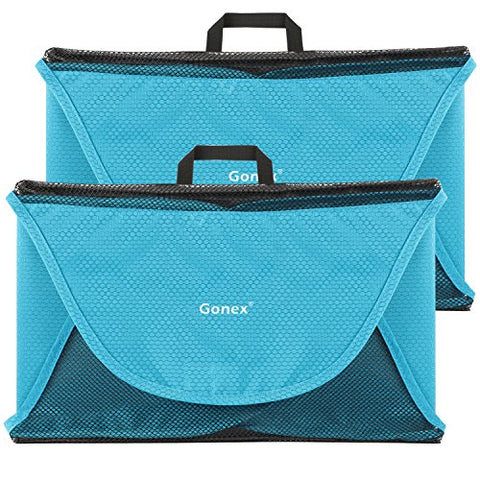 "Gonex Packing Folder,18"" Travel Garment Bag for Shirt 2pcs Blue"