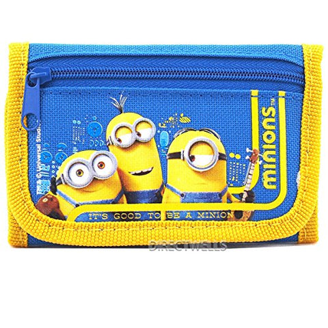 Despicable Me Minions Good Quality Children Blue Trifold Wallet (1 Wallet)