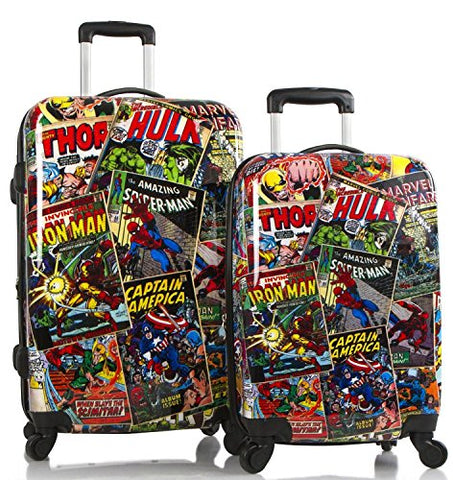 Marvel Comics Lightweight 2-Pc Hardside Expandable Spinner Luggage Set (Multi)