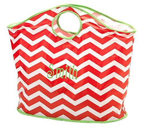 Chevron Fun Tote, Red