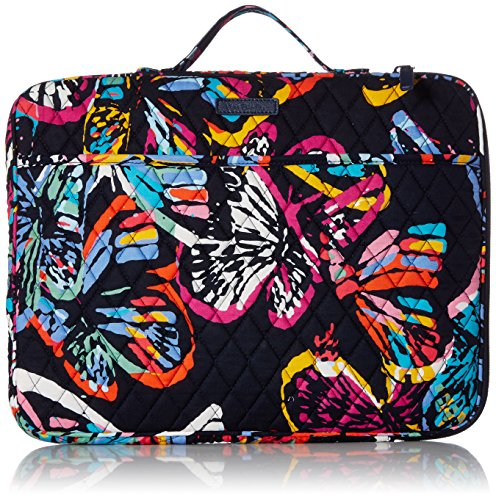 Vera Bradley Laptop Organizer, Signature Cotton, Butterfly Flutter