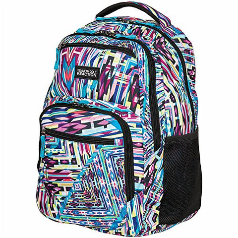 "Kenneth Cole R-Tech Double Compartment Backpack With 16"" Laptop Pocket, Kaleidoscope"