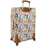 Lily Bloom Luggage Large Expandable Design Pattern Suitcase With Spinner Wheels For Woman (28in, Furry Friends)