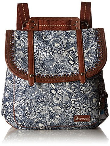 Sakroots Women'S Artist Circle Convertible Backpack, Navy Spirit Desert