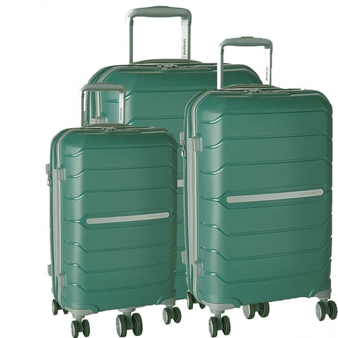 Samsonite Freeform 3 Piece Set 21|24|28 Inch Expandable Spinners (One Size, Sage Green)