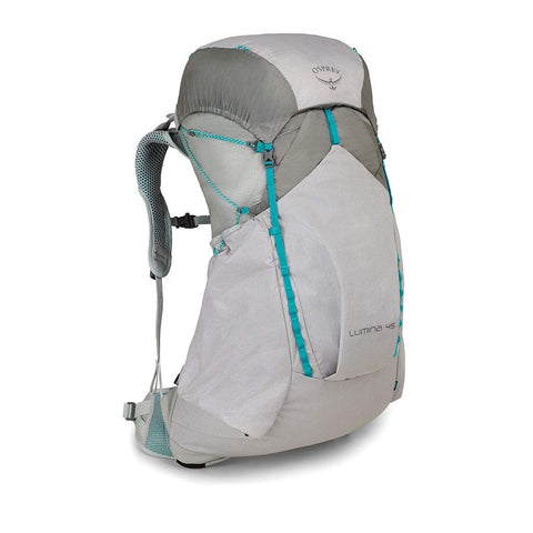 Osprey Women's Lumina 45 Backpacking Cyan Silver Black S