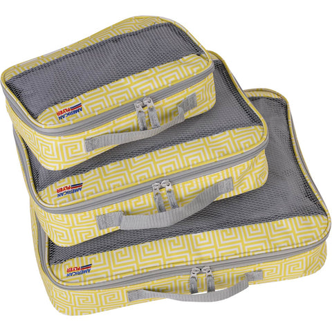 American Flyer Meander 3pc Packing Cube Set