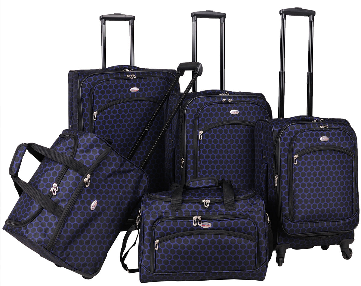 American Flyer Favo 5 Piece Luggage Set