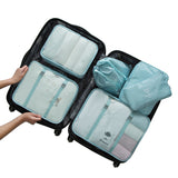 6PCS/Set Polyester Packing Cube Luggage Clothes Packing Organizer Travel Bag For Men Women Large