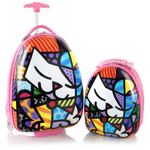 Britto for Kids Kitty Luggage and Backpack Set