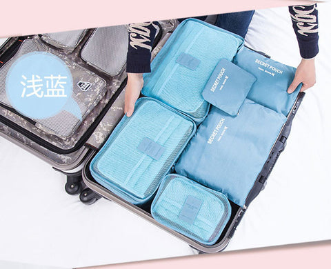 6pcs/lot set men and women Travel accessories waterproof clothing& underwear storage bags luggage