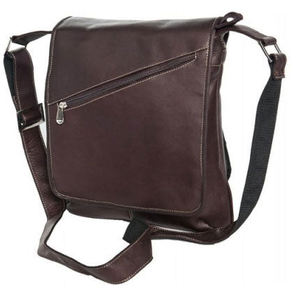 David King Deluxe Medium Slim Leather Messenger