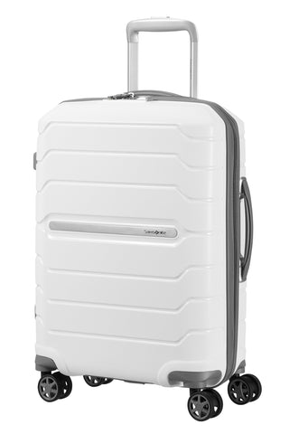 SAMSONITE Flux - Spinner 55/20 Expandable Hand Luggage, 55 cm, 44 liters, White