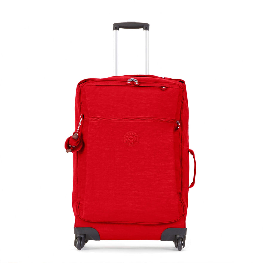 Kipling Unisex-Adult's Darcey Medium Carry-On Rolling Luggage, cherry tonal