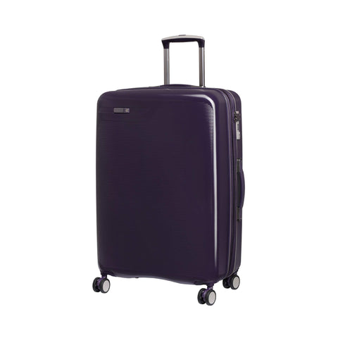 "IT Luggage 27.2"" Signature 8-Wheel Hardside Expandable Spinner, Black Cordial - Purple"