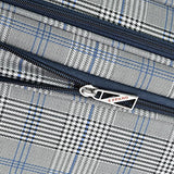 "London Fog Knightsbridge Hl 25"" Expandable Spinner, Grey/Navy Plaid"