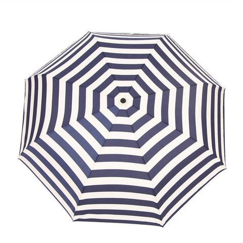 FakeFace Navy Stripes Style Compact Triple Folding Automatic Umbrella Auto Open & Close Travel Anti-UV Rain Sun Umbrellas UV Protection Parasol