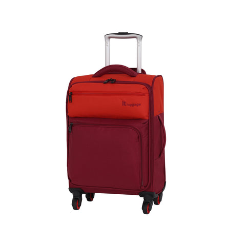 it luggage Duotone 4 Wheel Lightweight Cabin Suitcase, 53 cm, 34 L, Orange + Red Dahlia