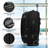 Travelpro Crew Expert Max Carry-on Expandable Rollaboard, Jet Black