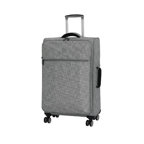 "it luggage 26.8"" Stitched Squares Lightweight Case, Flint Grey"