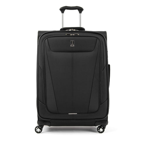 "Travelpro Maxlite 5 Lightweight Checked Medium 25"" Expandable Softside Luggage Black, 25-inch"