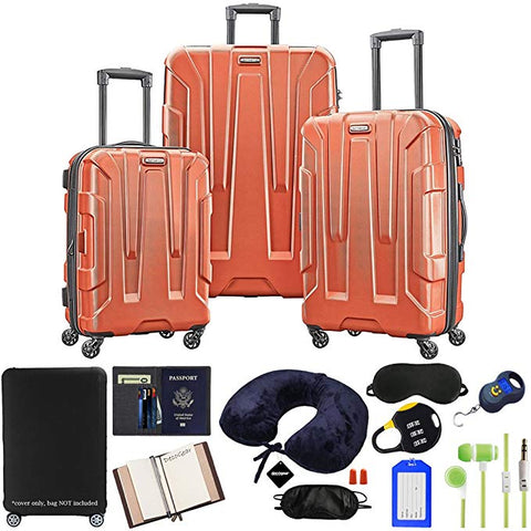Samsonite Centric 3-Piece Hardside Luggage Set,  10pc Accessory Kit