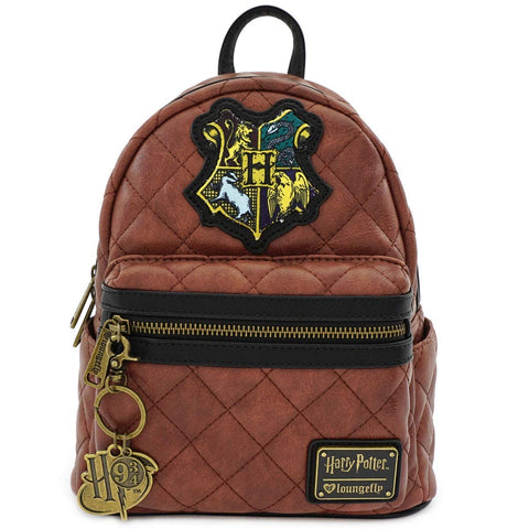 Loungefly Harry Potter Hogwarts Crest Faux Leather Quilted Mini Backpack