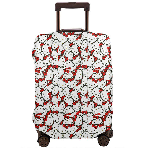 Xzcxyadd Hello Kitty (29) Travel Luggage Protector Case Polyester Fiber Baggage Cover Suitcase Protective Cover (Suit for 18-32inch)