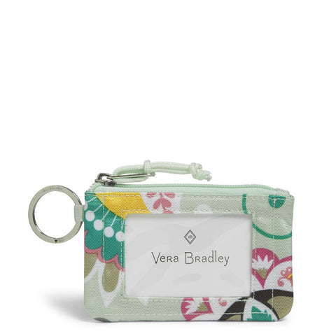 Vera Bradley Lighten Up Zip, Mint Flowers