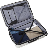 Delsey Luggage Titanium 2 Piece Hardside Spinner Carry on and Check in Set, One Size, Silver