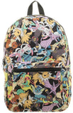 Bioworld Pokemon Eevee Evolution Toss Print Sublimated Backpack
