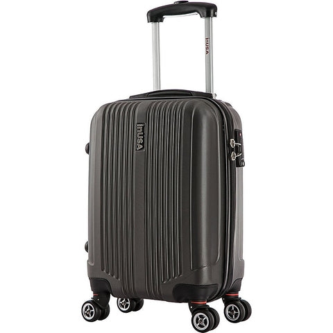 Inusa San Francisco 18-Inch Carry-On Lightweight Hardside Spinner Suitcase - Charcoal