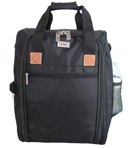 BoardingBlue New Free Frontier, Spirit, JetBlue, America Airlines Personal Item Under Seat Bag (BLACK)
