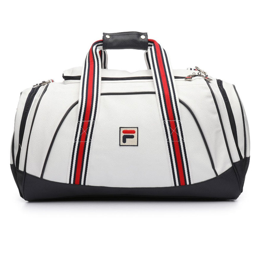 Fila Unisex Striker Duffle Bag (One Size, White, Navy, Chinese Red)