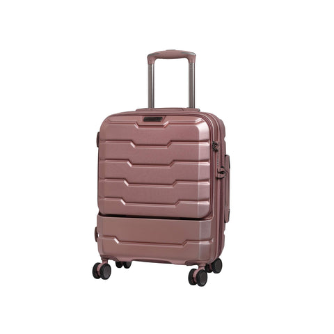 "it luggage 21"" Prosperous Hardside Expandable Carry-on with TSA Lock, Metallic Pink"