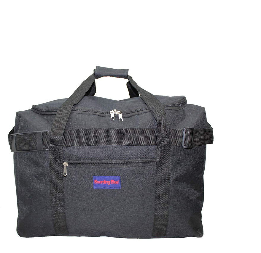 "Boardingblue Under Seat 18"" Duffel Bag Personal Item for Spirit & Frontier Airlines (Black)"