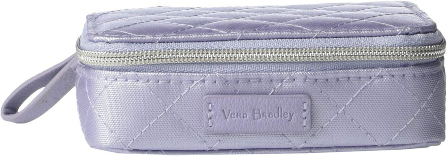 Vera Bradley Women's Iconic Travel Pill Case Lavender Pearl One Size