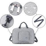"16"" Foldable Duffle Bag 20L for Travel Gym Sports Packable Lightweight Luggage Duffel Water-resistant By WANDF (Light Grey 16"", 16 inches (20 Liter))"