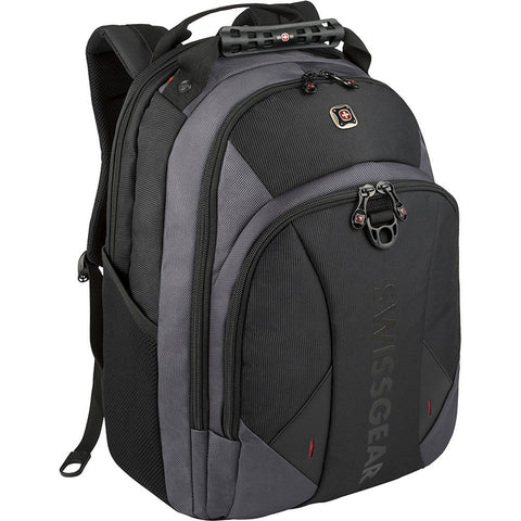 SwissGear Pulsar 16 Padded Laptop Backpack - Black/Gray