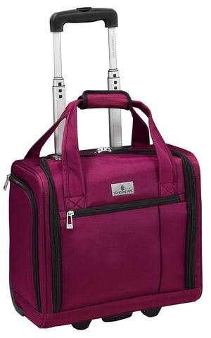 "London Fog Cranford 15"" Under The Seat Bag, Cranberry"