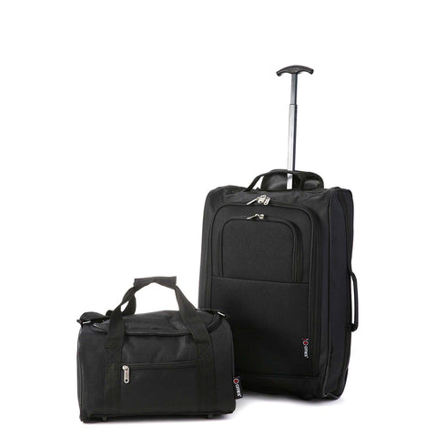 UCouple Hand Luggage Set 22x14x9 Airline Approved by Delta United Southwest | Men & Women CarryOn |