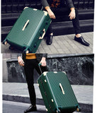 Suitcase, Aluminum Frame Trolley Case, Universal Wheel Luggage Code Suitcase High-Grade Aluminum Frame, Dark green, 26 inche