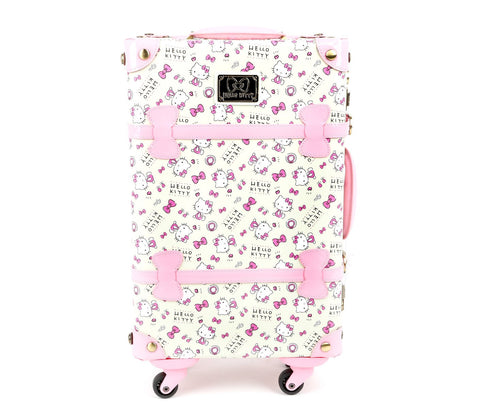 "Hello Kitty 19"" Steamer Trunk Suitcase: Pink"